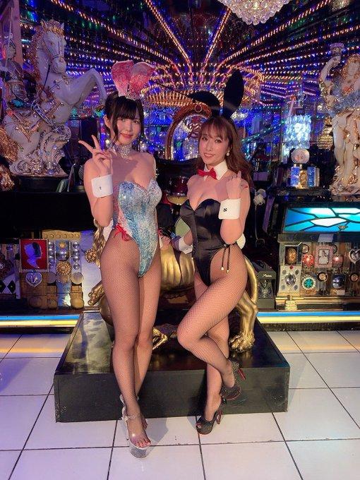 バニーガールの渋谷さんのTwitter自撮りエロ画像19