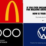 Image for the Tweet beginning: Brands are promoting social distancing