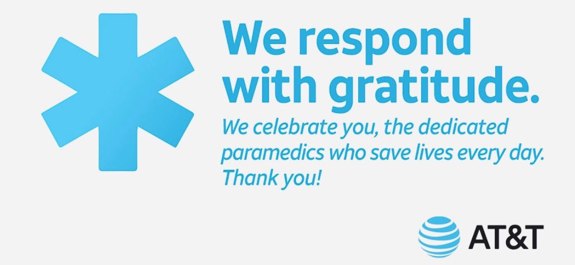 During National EMS Week, we gratefully acknowledge the heroes who respond when medical services are needed. Thank you. http://go.att.com/o5FR1 #ATTEmployee #Iphone11 #ThankYou  Visit our store in Montrose Crossing Rockville MDpic.twitter.com/C61GYpZsVM – at AT&T