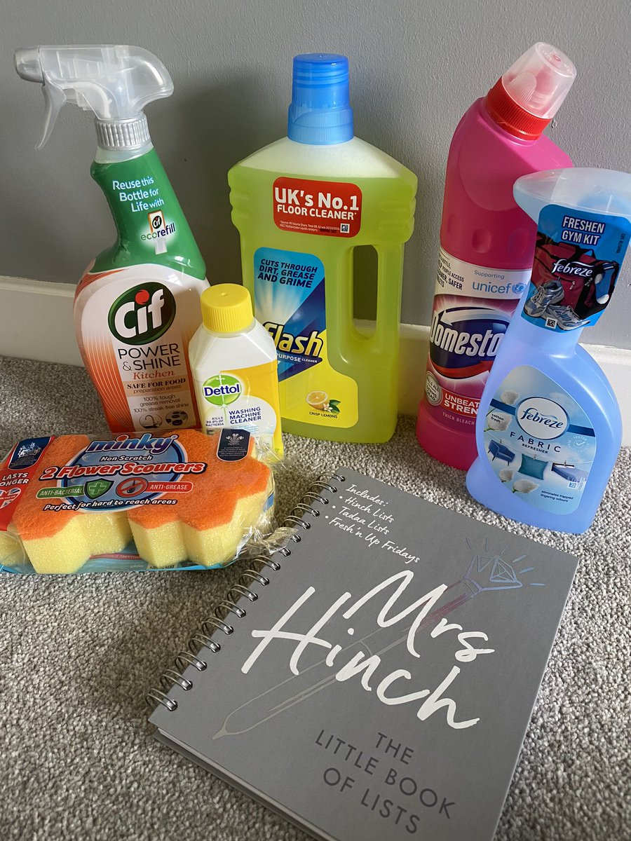 I have become a lover of cleaning  today's #hinchhaul , poor Jed was made to video call me from the cleaning aisle in Asda since I'm not allowed to go! I'd love a trip to B&M just to stock up on some things @mrshinchhome #hinchlistpic.twitter.com/QvqA8df3Ey