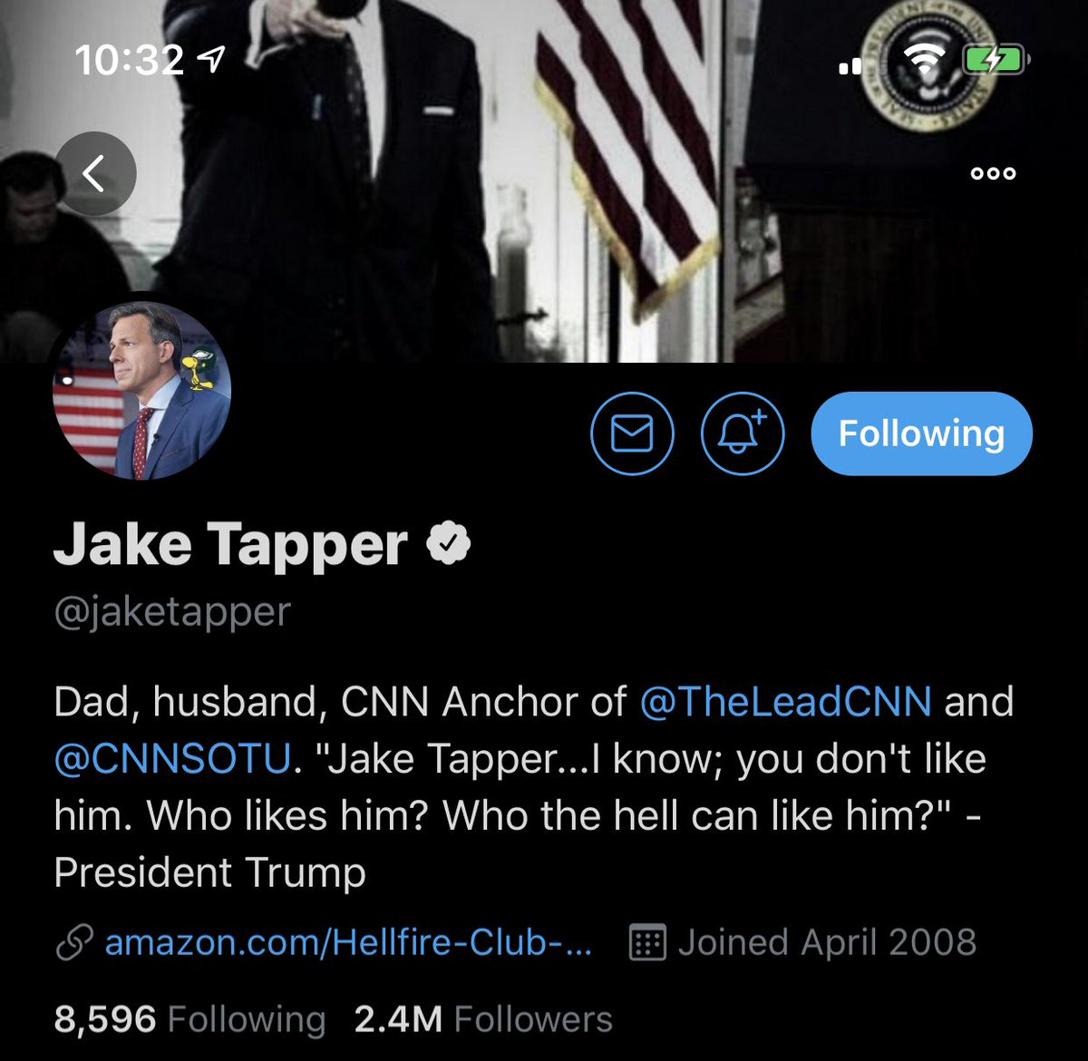 Lame. We always had a cordial relationship. He unfollowed me yesterday; he did once before after I criticized the townhall's award. He made it clear that if I am to be in his his good graces I'm not allowed to mention the horrible way his network treated me. Not how this works. https://t.co/LIaqWtAnpI