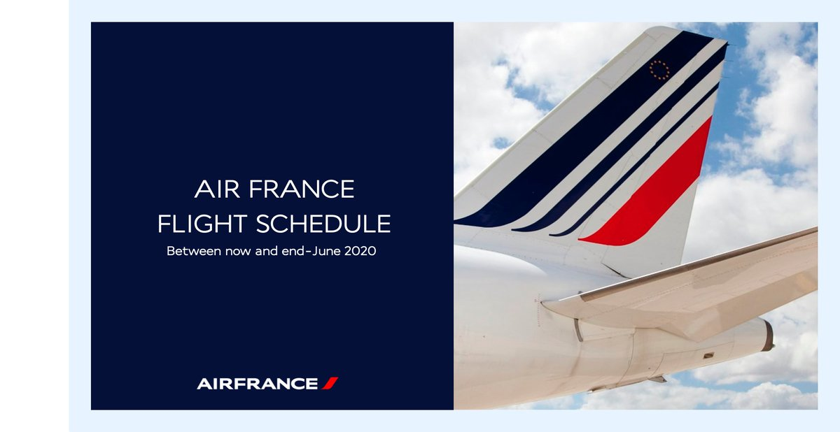 [FLIGHT SCHEDULE] Between now and the end of June, and subject to travel restrictions being lifted, #AirFrance plans to gradually resume some flights in mainland France, to overseas territories and Europe. More info 👉 https://t.co/WYmlETYXoz https://t.co/u9vffsj7uO
