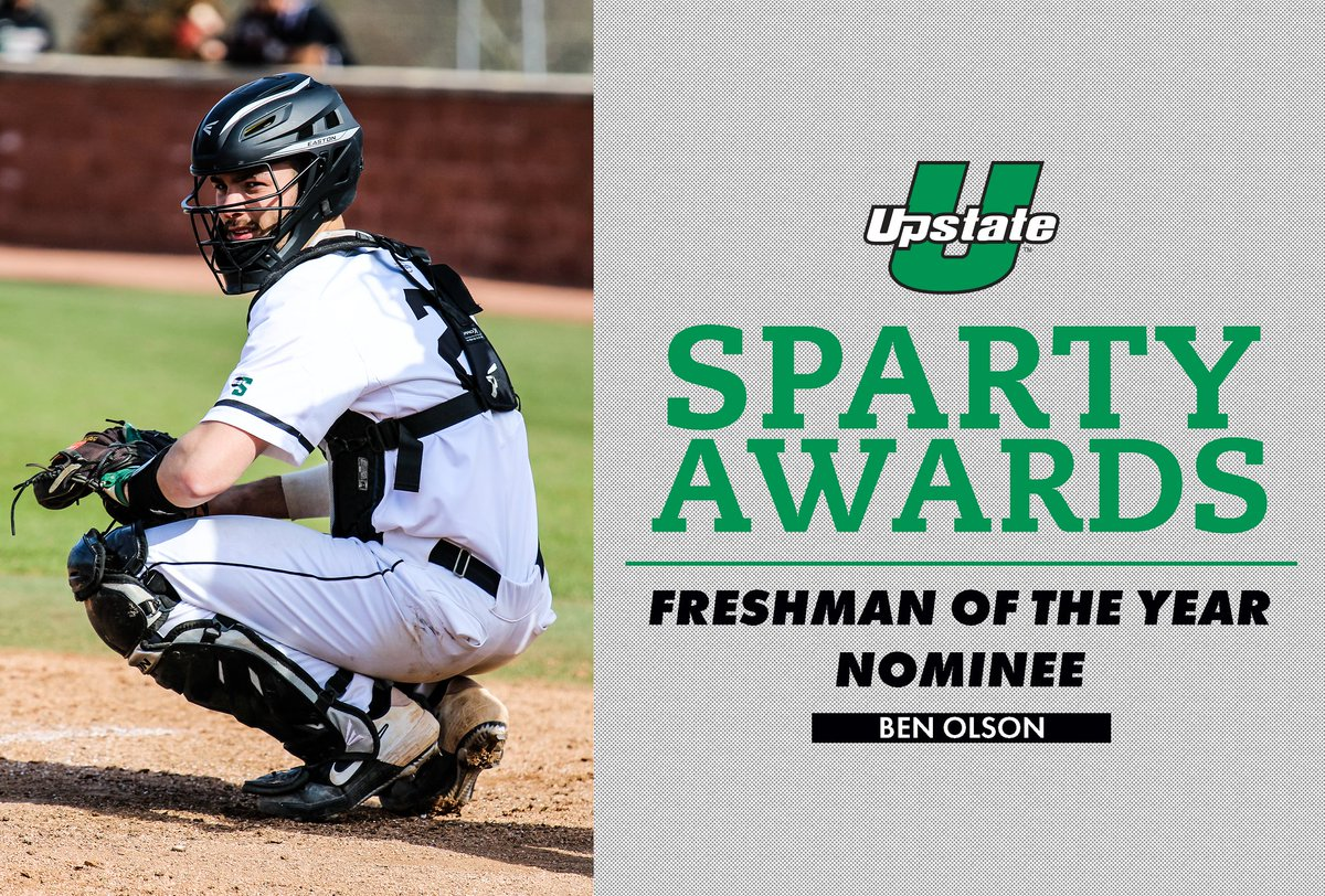 Next we would like to honor the nominees for the Male Freshman Athlete of the Year.  The nominees are:  Ben Olson- @UpstateBSB Jay Roberts- @UpstateXCTrack Leon Roider- @UpstateMWTennis  Pascal Corvino- @UpstateMSoccer   #Spartys2020  (1/2) https://t.co/PV4TztRYRV