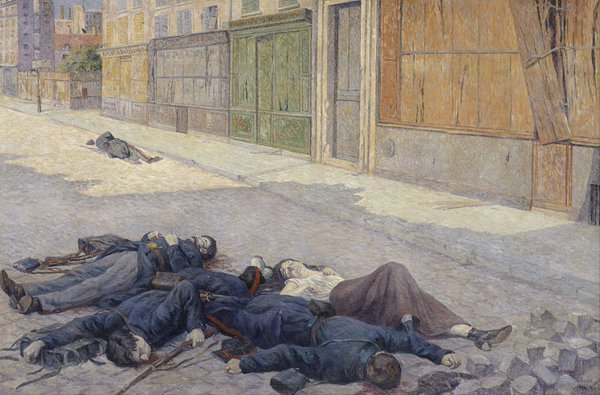 On this day in 1871, French troops crush the Paris Commune. As many as 10,000 revolutionaries are slaughtered in the crackdown. <br>http://pic.twitter.com/RfWzr3qQLx