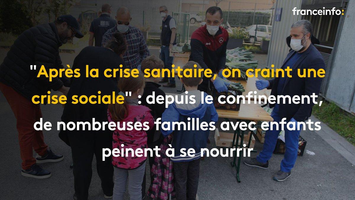 Derrière l'urgence médicale, la détresse alimentaire. Les @restosducoeur annoncent que, pendant le #confinement, le nombre de personnes servies a grimpé de 40% par rapport à la même période en 2019