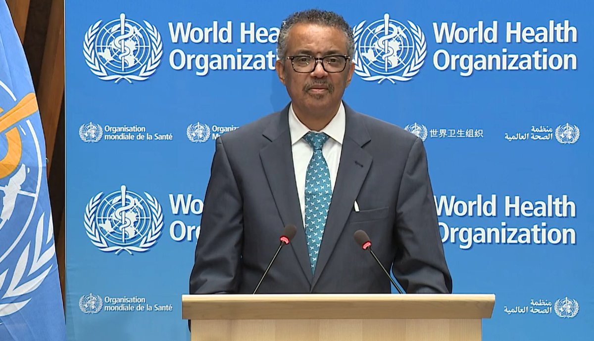 Introductory #WHA73 speech of @WHO @DrTedros asking audience to join him in the appreciation of the true #healthheroes that #nurses and #midwives are, especially during the #pandemic in this Year of the Nurse and the Midwife. We thank you Dr Tedros for supporting nurses and ICN!