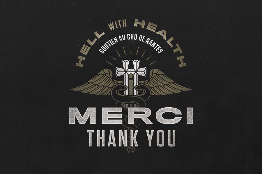 """🏥 HELLFEST FOR HEALTH : MERCI / THANK YOU ! 🏥  195 000 € recoltés dans le cadre de la campagne """"Hellfest For Health"""", merci à tous pour votre incroyable mobilisation et solidarité !  #hellfest #hellfestforheath https://t.co/tFx0T4ziv0"""