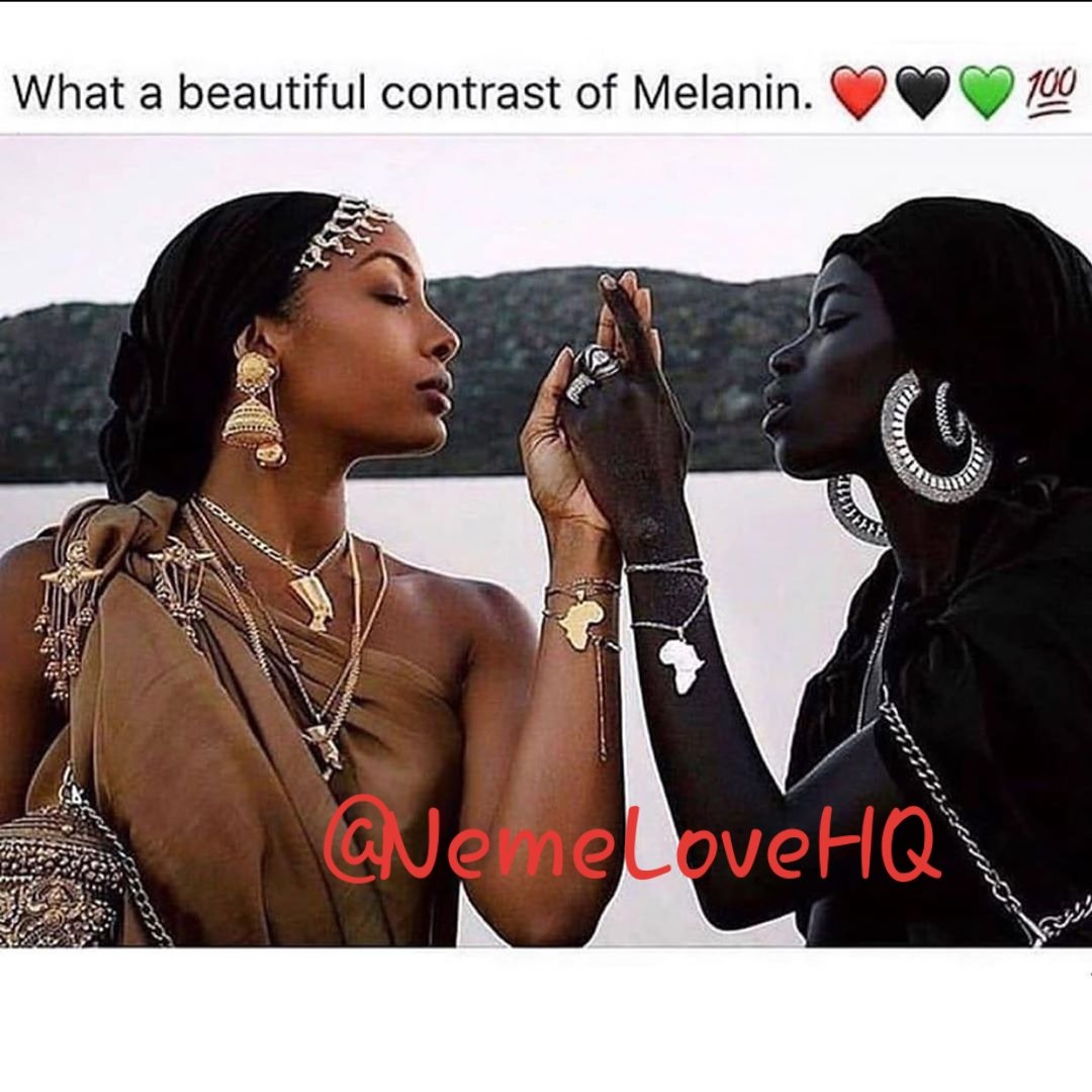 The beauty of different shades of melanin..Black is absolutely gorgeous. #melaninpoppin #black #contrast #beautiful #africa #nigeriapic.twitter.com/0RLRPKUpVh