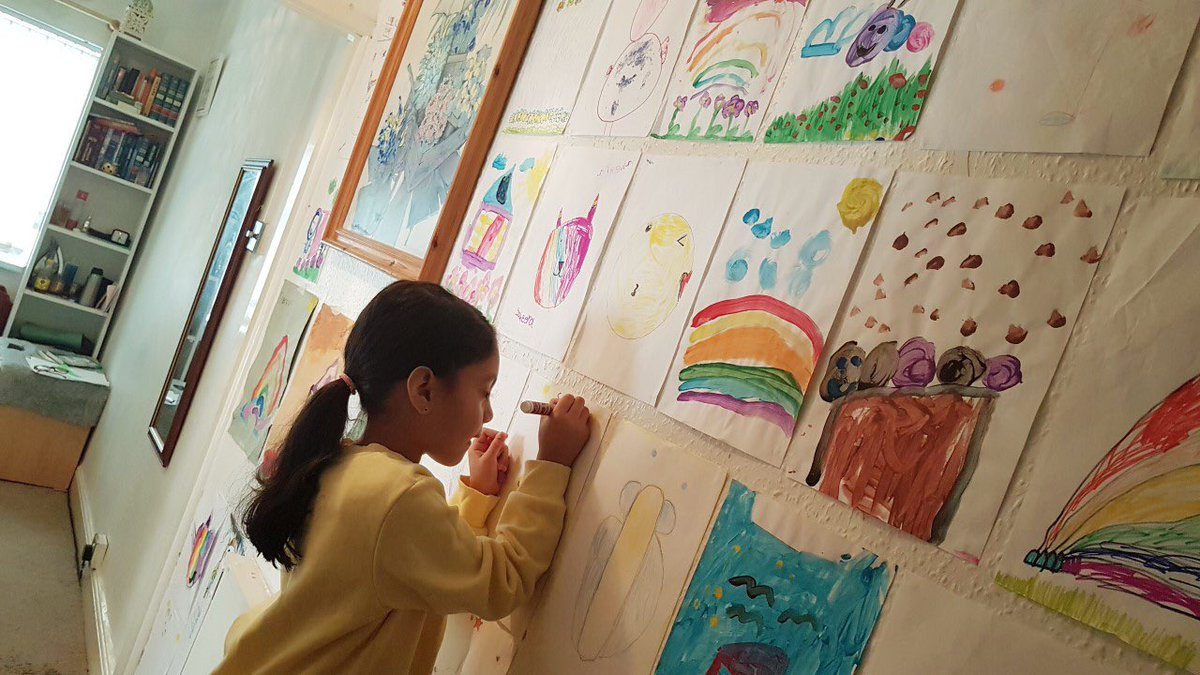 Holy Family has it's very own Van Gogh! Saheera has been busy creating her art gallery at home. What a talent you have! Amazing pics, well done. #giftsandtalents 👩🎨                Why don't you all share what you have created at home? https://t.co/hmSybtXtjJ