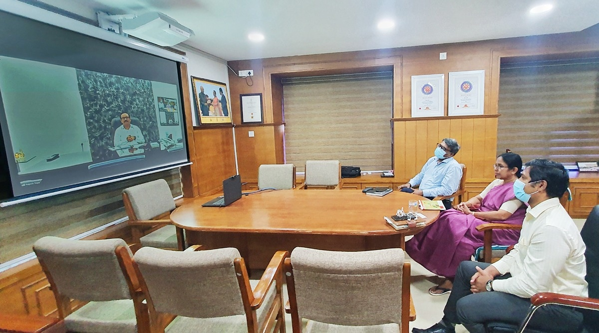 Interacted with Maharashtras Minister of Health Sri Rajesh Tope today through video conference. He was eager to understand about our standard operating protocol, guidelines, treatment and testing methods that Kerala has successfully implemented to fight Covid 19.