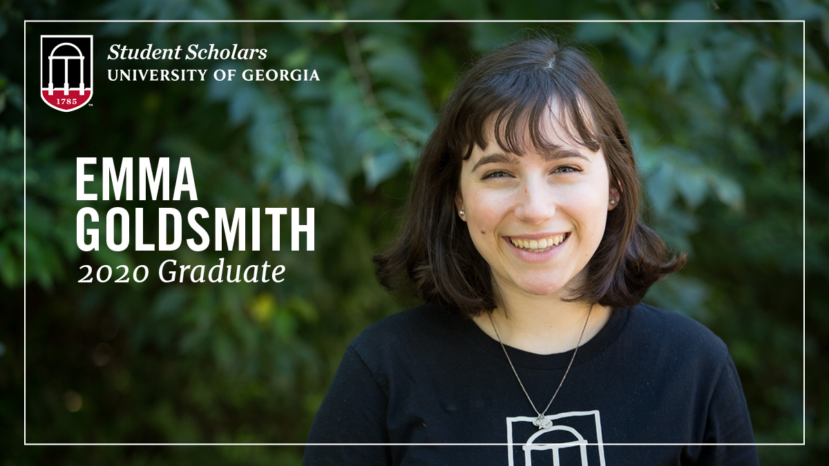Congratulations to PSO Student Scholar and new #UGAgrad Emma Goldsmith! Emma, who interned this year with @ugaleads, graduated with degrees in journalism and international affairs and is now heading to work for @TeachForAmerica in Charlotte! Way to go Emma! #UGA20 https://t.co/6lDohSRay3