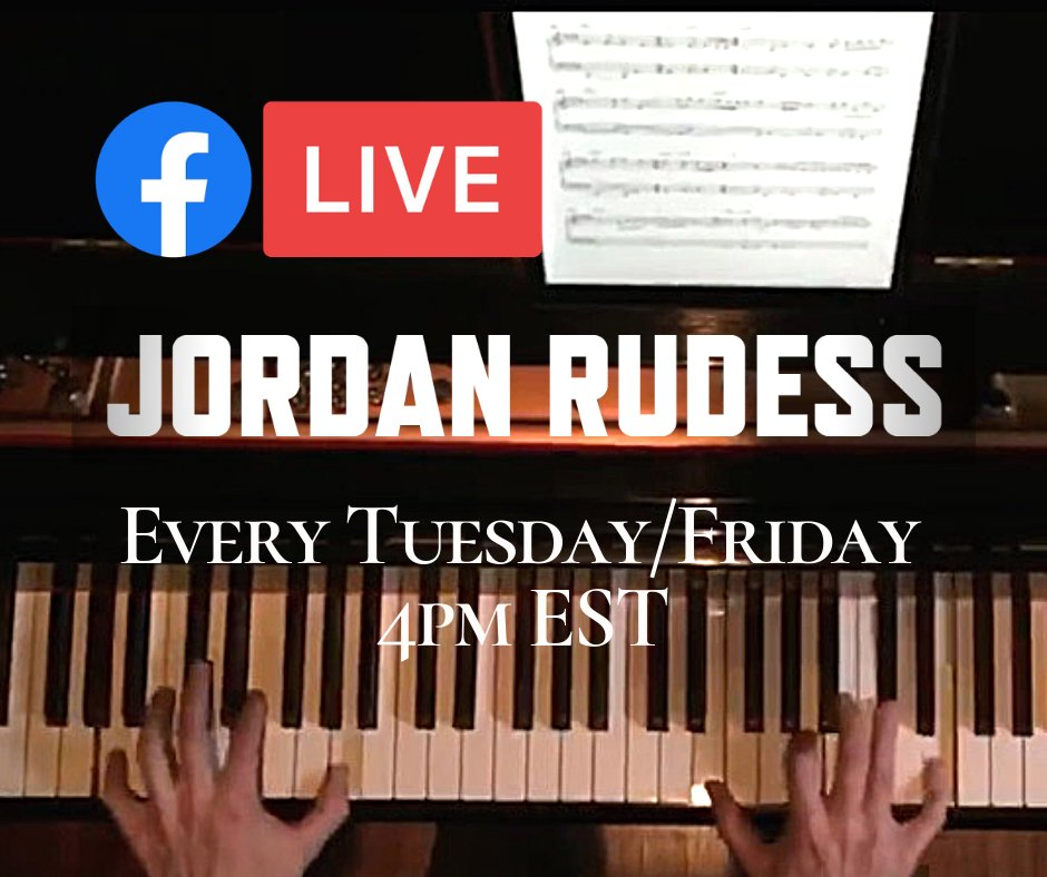Schedule Change! @Jcrudess will now be doing his #FacebookLive Streams every Tuesday and Thursday at 4PM EST. Dont worry, he has some great changes coming for all the fans! #dreamtheater #jordanrudess pic.twitter.com/npSCkBEGvo