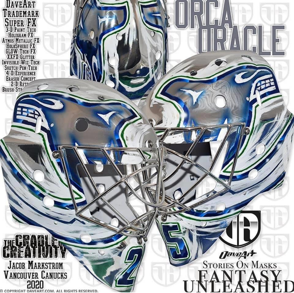 Tendy Gear On Twitter Jacob Markstrom Vancouver Canucks Mask Painted By Daveartofficial Maskmonday