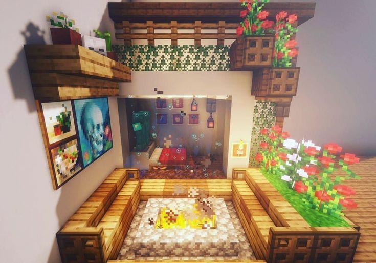 идеи для украшения комнаты в майнкрафт #2
