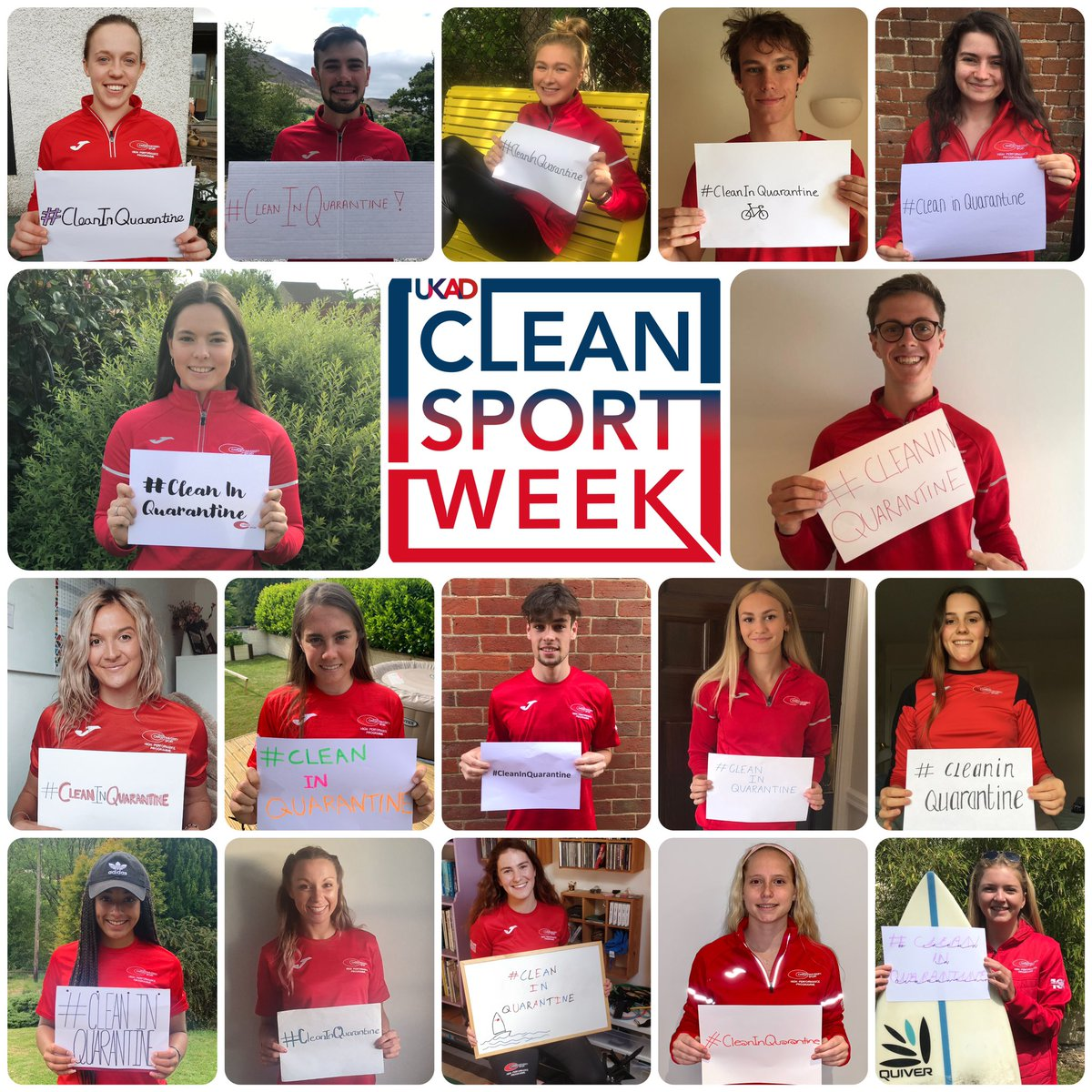 It's @ukantidoping's #CleanSportWeek!  We're proud to show our commitment to clean sport and stress the importance of staying #CleanInQuarantine! 💯 https://t.co/e26zDYqNFU