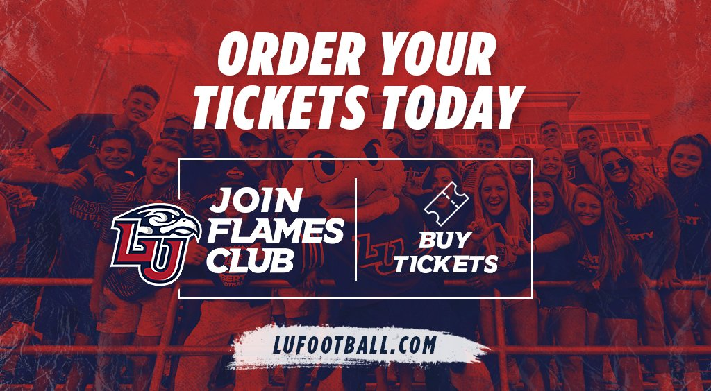 Did you know we extended our @LibertyFootball priority seating and parking deadline to June 1? Purchase yours today at https://t.co/rdqAF0yBm4 or call (434) 592-5015. We also extended our payment plan through August 1 so don't wait!  #RiseWithUS #GoFlames https://t.co/NII97mziN1