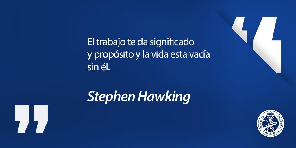 ¡BUENOS DÍAS! Con estas palabras sabias del físico teórico Stephen Hawking, iniciamos la jornada laboral de la semana. #FelizLunes #palabrassabias #frasesparacompartir pic.twitter.com/FlGY65FVW9