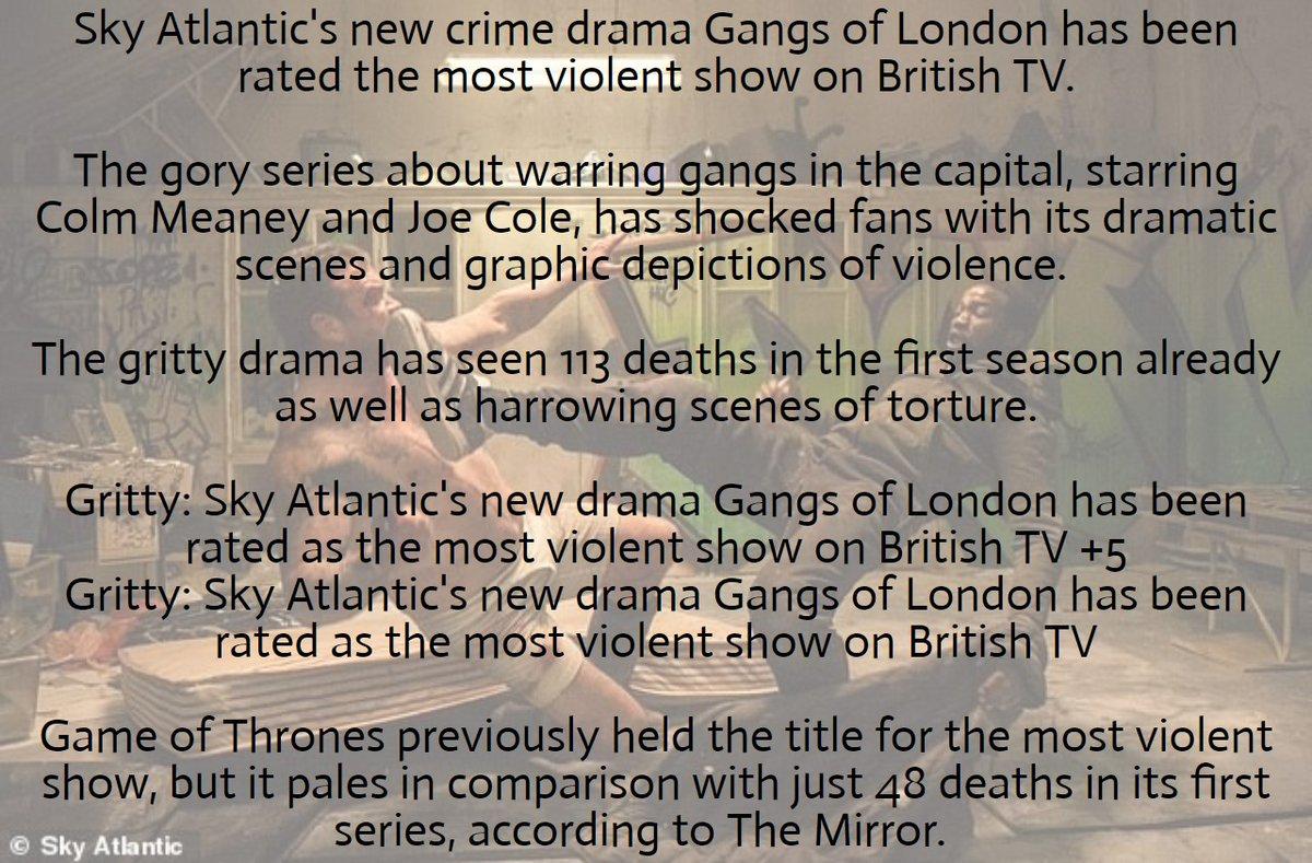 Gangs Of London On Twitter