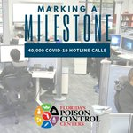 Image for the Tweet beginning: 📞MARKING A MILESTONE📞 Florida's Poison Control