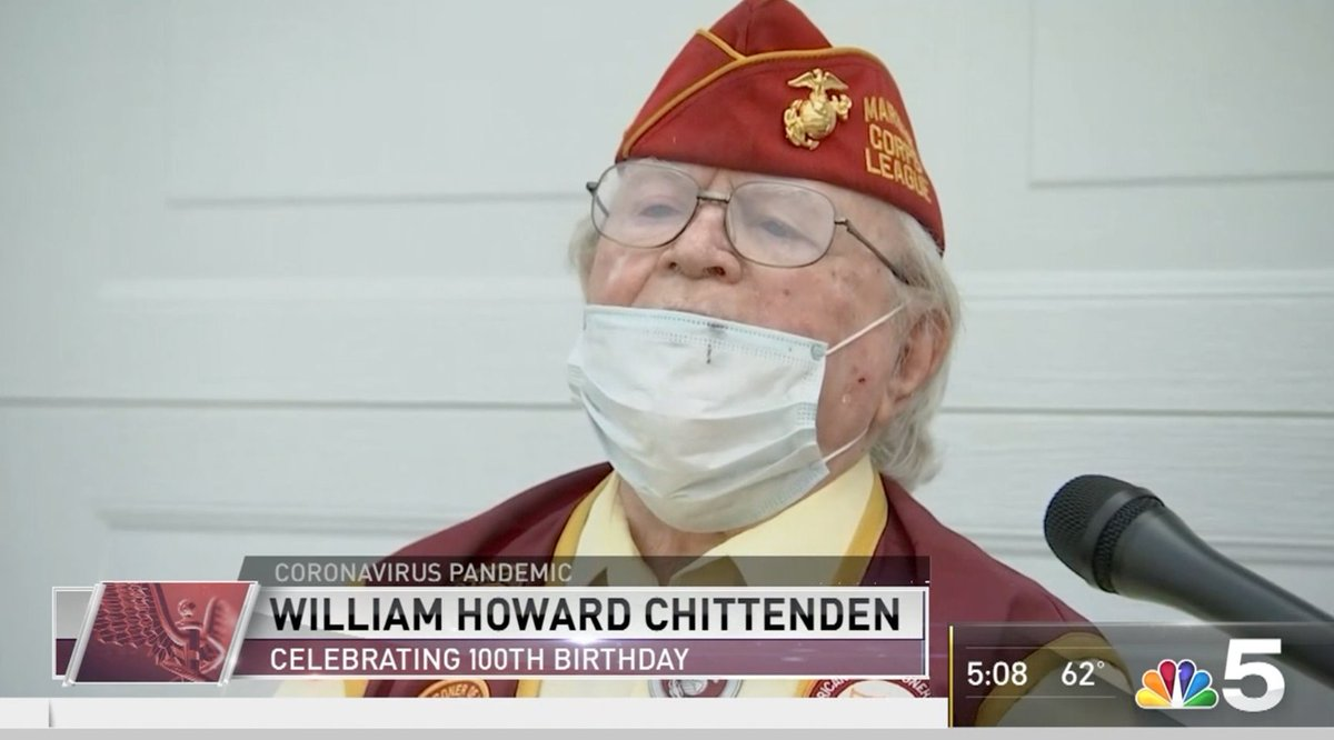 This weekend, former World War II Prisoner of War, William Howard Chittenden, marked his 100th birthday. Happy Birthday and Semper Fi, Marine. 📺 Watch his surprise celebration at bit.ly/3g2c00j