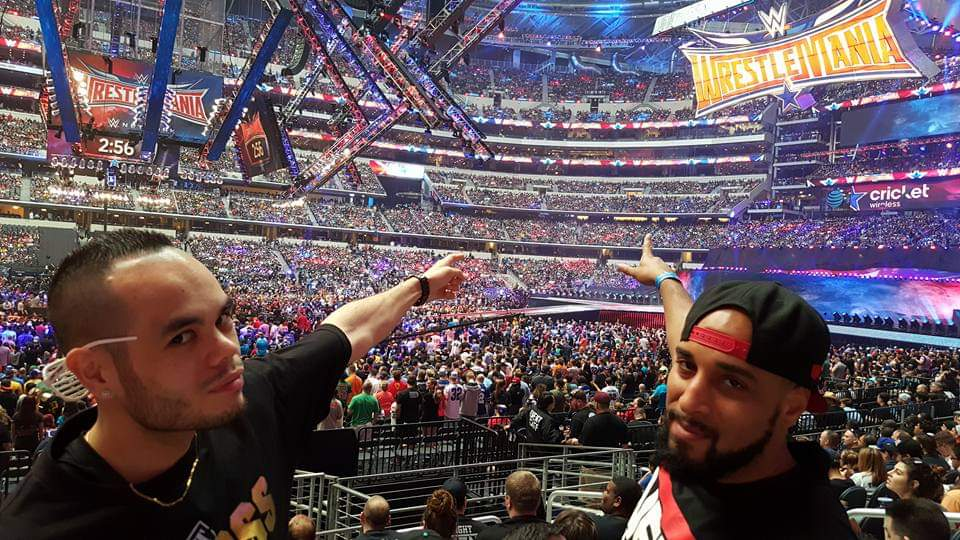 Happy Birthday to my main man (Ahmad Rashad voice) @djhellayella! Throwback to when we got to attend #WWE #WrestleMania32 in Dallas. Also, to when things were normal and we could do things like, go outside... happy b-day, bro! https://t.co/UcjNrJZY8S