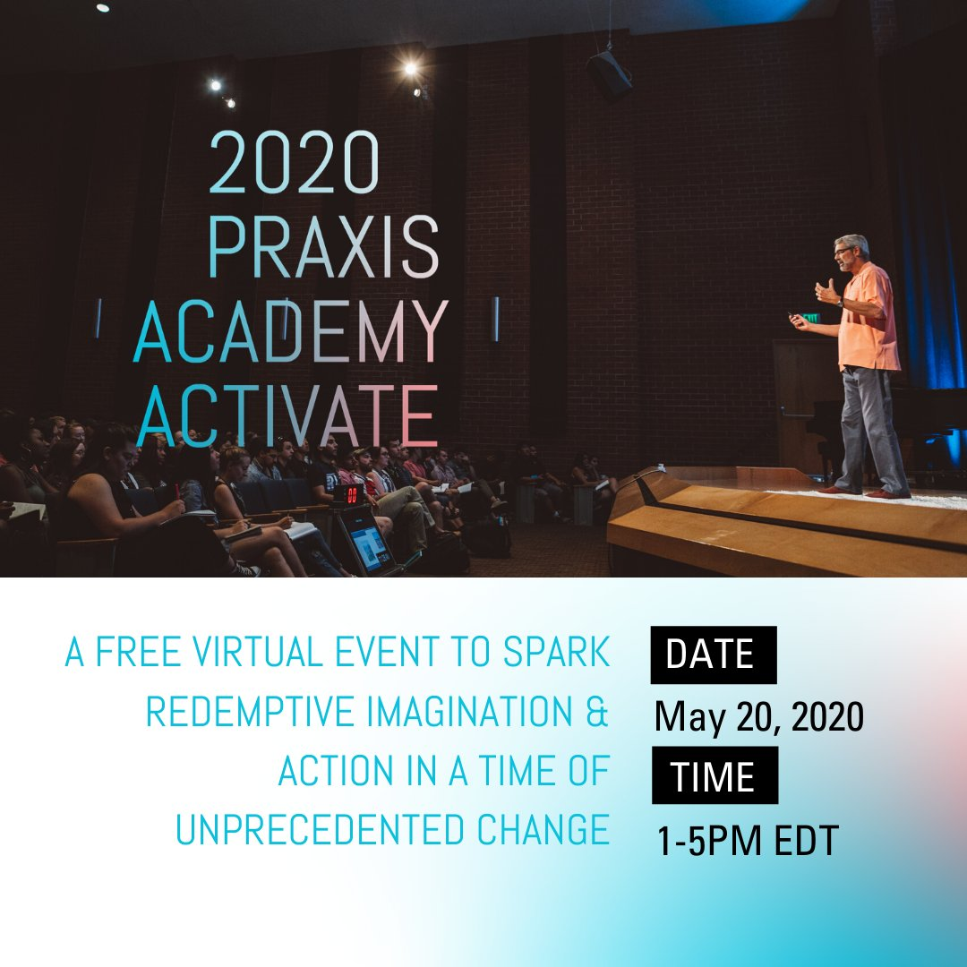 Join us for Academy Activate, a ONE DAY virtual event hosted by @praxislabs, featuring talks from leading entrepreneurs pursuing the work of bringing redemptive action in the world.   Register today! ——>  https://t.co/HJJPR6mWho https://t.co/tfJikfvBLR