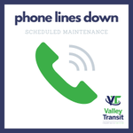 Image for the Tweet beginning: Valley Transit has scheduled maintenance
