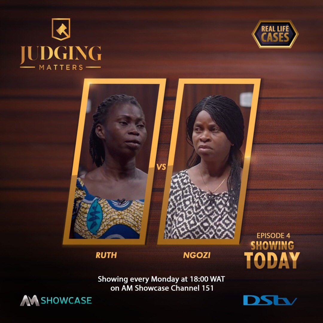 Another Monday, another serving of #AMJudgingMatters. Catch @Ebuka and Justice Williams tonight at 18:00, on DStv CH 151 AM Showcase