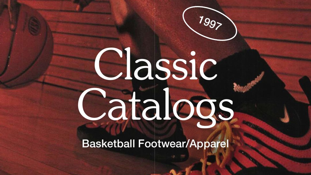 Classic Catalogs.  The latest SNKRS Story takes a look back at the innovation and style of hoops in '97.  Download the SNKRS app and view the story: https://t.co/0qmlLhT81J #SNKRS #Nike https://t.co/0WZUjDolR2