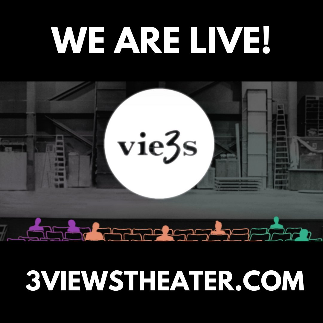 3Views on Theater is LIVE! Thanks to @thelillysorg & our generous supporters @3viewstheater will serve as a digital archive highlighting productions affected by COVID-19 & reflections from theater makers. Visit 3viewstheater.com each week for new content! #happylaunchday
