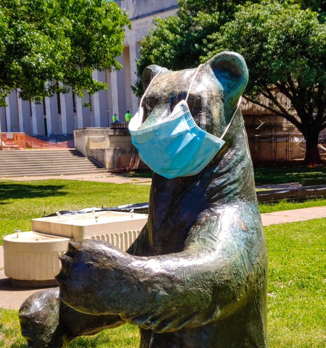 It's Monday. 😬 Grin and bear through it! 🐻 😷 #myFairPark