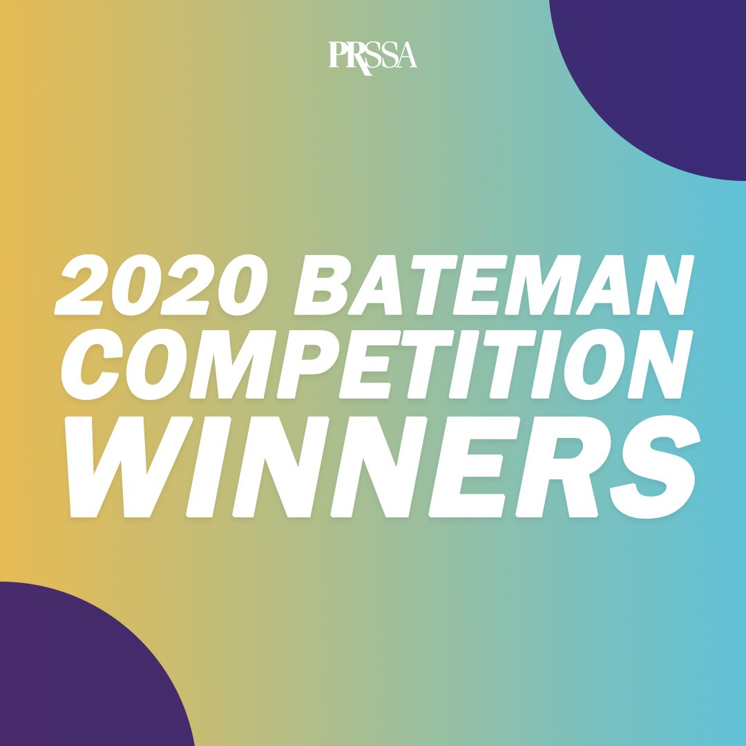 Congratulations to our Bateman team and adviser @pamproverbs for placing second in the @PRSSANational annual competition.  Well done!