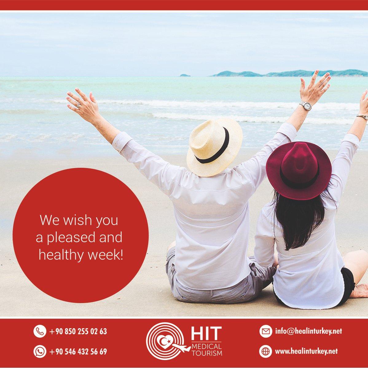 We wish you a pleased and healthy week!  #turkey #visitturkey #healthtourismturkey #turkeytravel #hairtransplant #cancercare #plasticsurgery #aestheticsurgery #nosejob #obesitysurgery #orthopedics #gammaknife #dentalturkey #implantturkey #dsd #digitalsmiledesign pic.twitter.com/3aSQJ1idsW