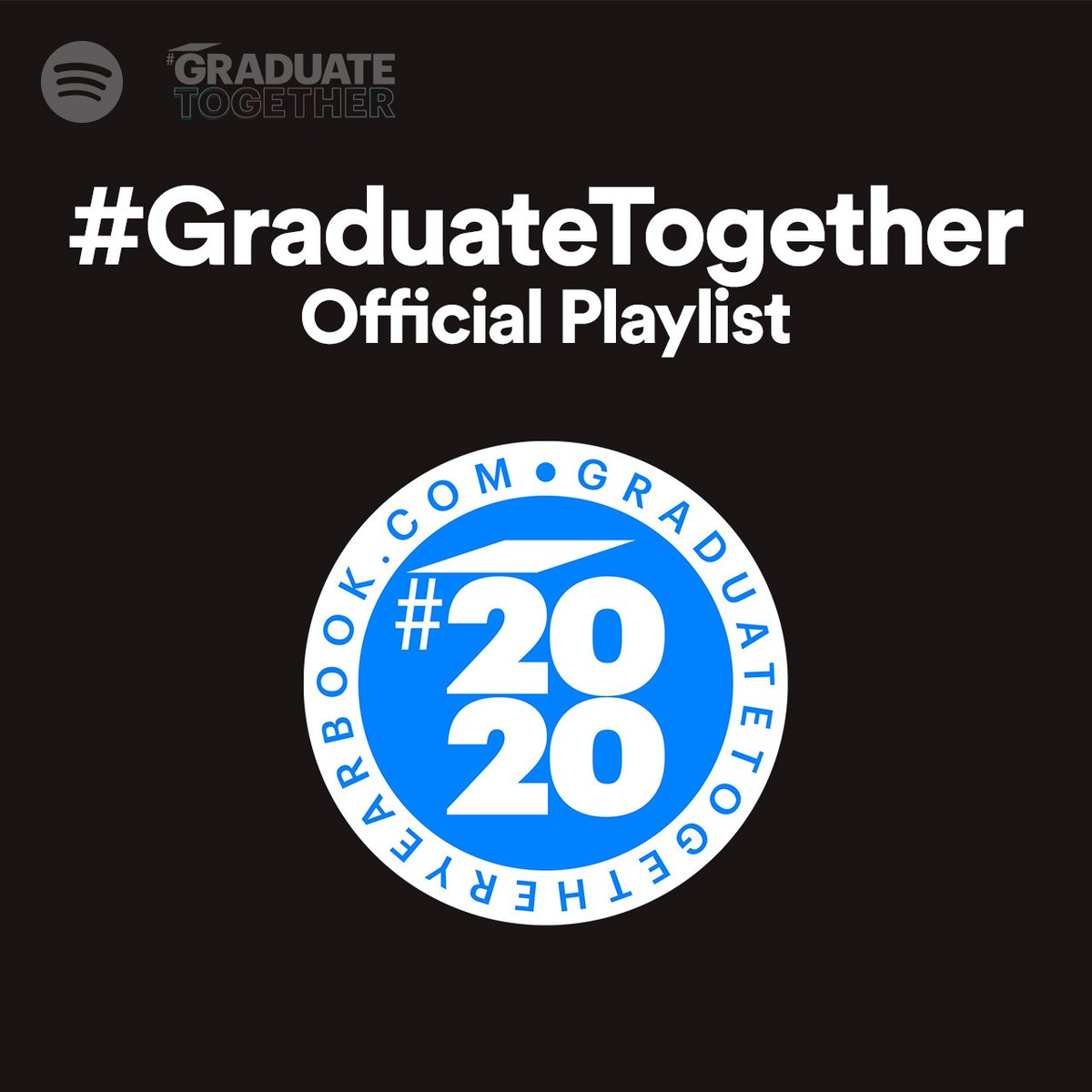 To the Class of 2020 - here is your soundtrack 🎓 Listen to the #GraduateTogether playlist to celebrate how far you've come. You did it. ▶️ spoti.fi/GraduateTogeth…