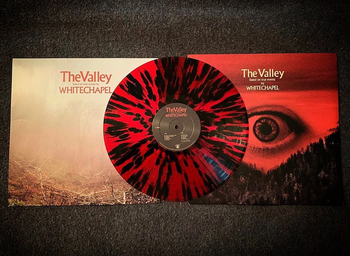 """There are still a few red splatter variants of """"The Valley"""" in stock and shipping now. Grab one while you can: https://t.co/9nbfOP3KAV 📸: @deanna.dallas https://t.co/x3pwf939nK"""