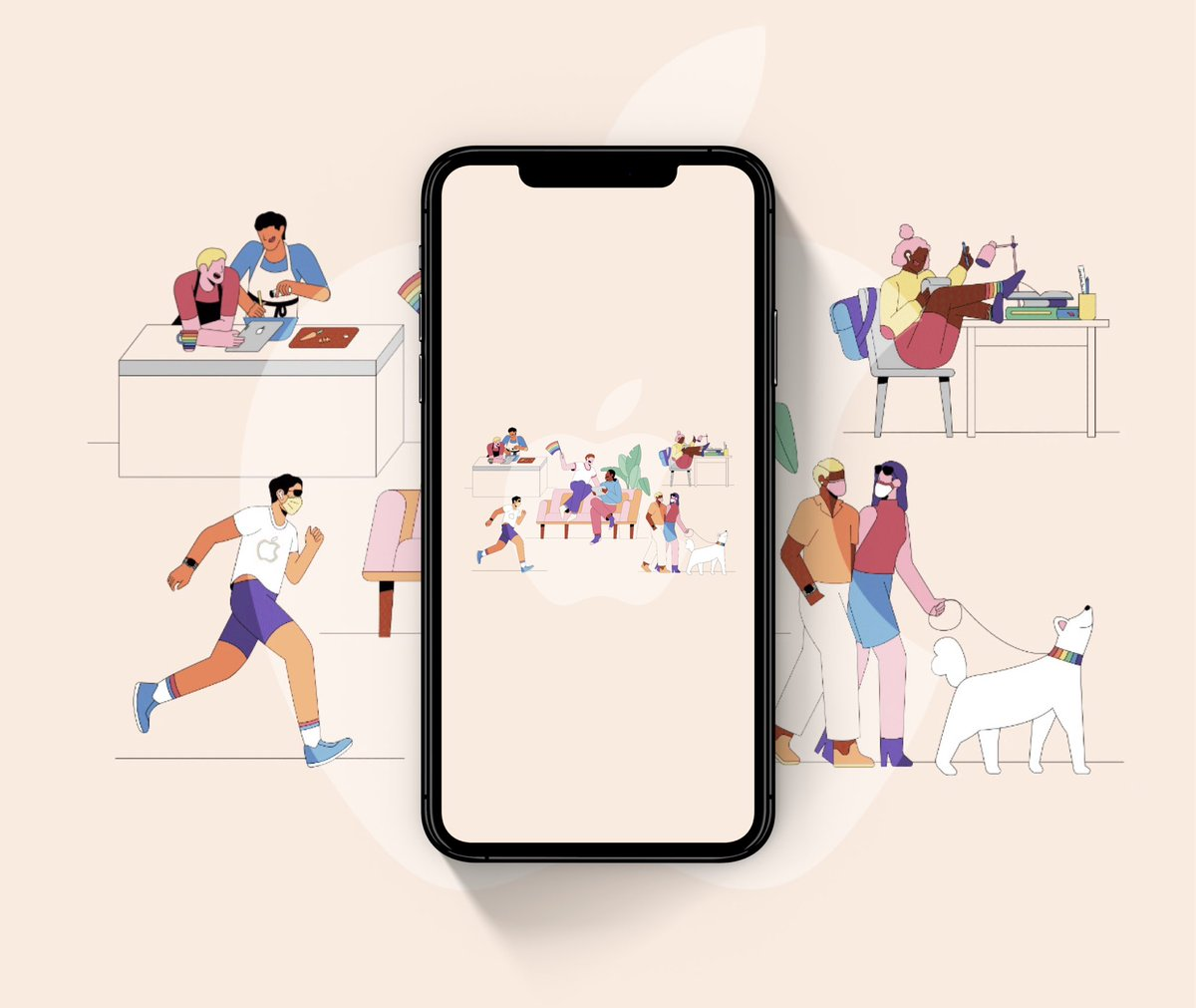 #wallpapers   Apple Pride 2020 Celebrates #wallpaper   - include Blank version   for  - #iPhone11ProMax - #iPhone11Pro - #iPhone11 - #iPhoneXSMAX  - #iPhoneXR - #iPhoneXS  - #iPhoneX - ALL other #iPhone  Download   https://drive.google.com/drive/folders/18up7VdDhRriBhVT-Wn-9LElOybUaVyNl…  By @AR72014pic.twitter.com/ZeafJ39WjX