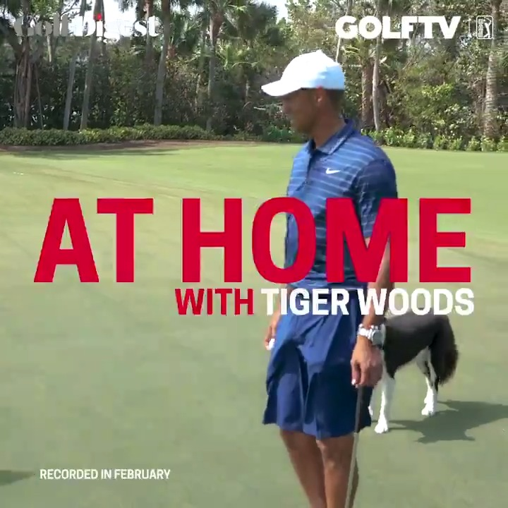 Earlier this year I had @GolfDigest at the house. Check out the At Home with Tiger series at GolfDigest.com.