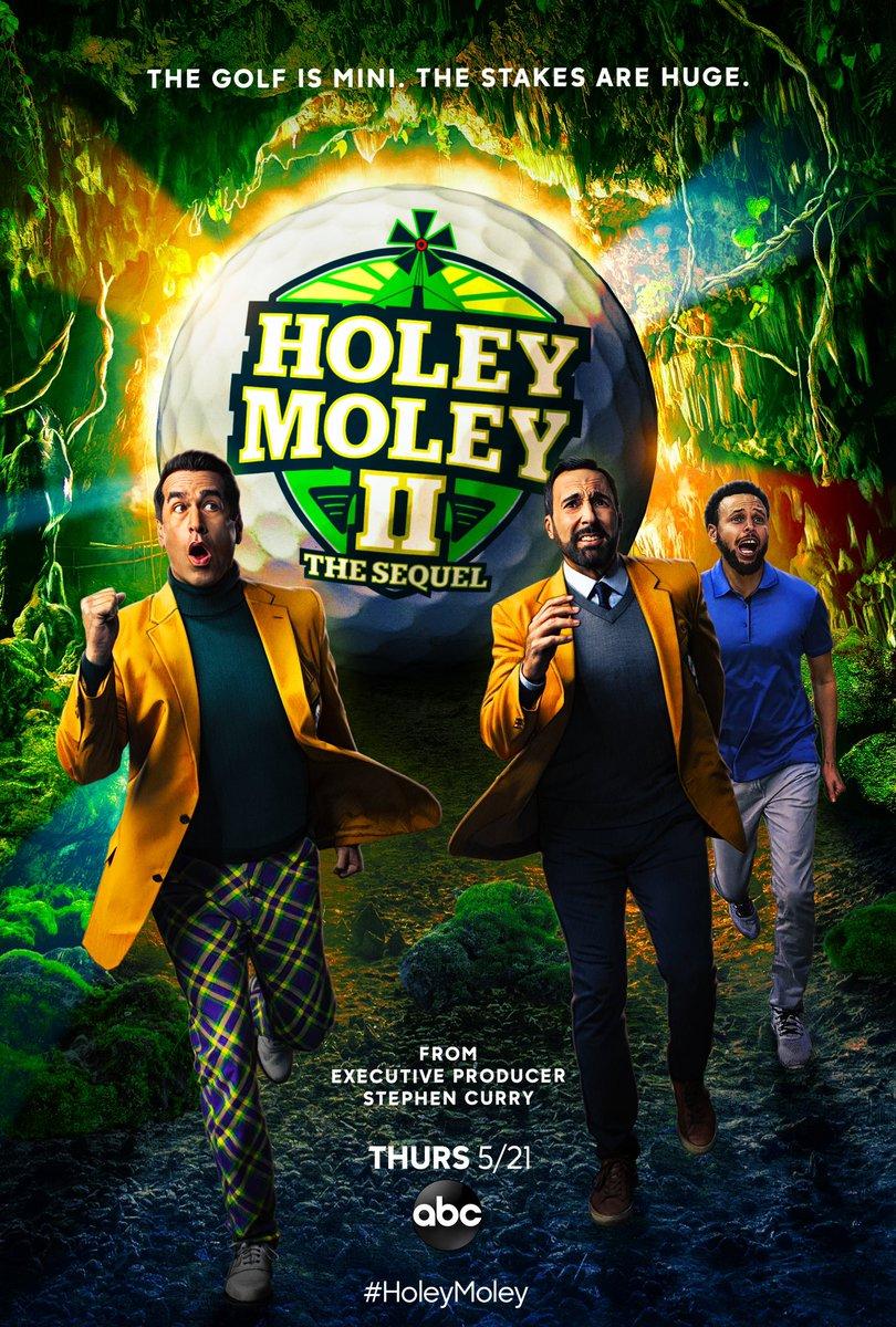 Mini golf just got BIGGER! #HoleyMoley II: The Sequel premieres Thursday at 9|8c on ABC! ⛳️
