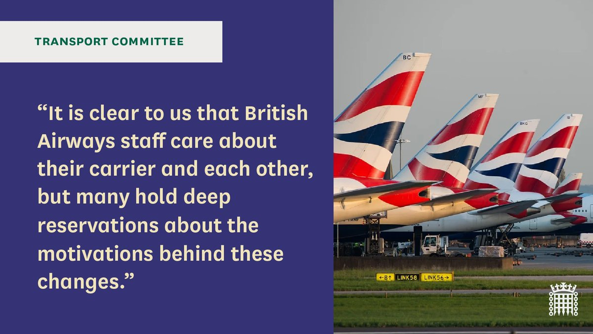 [1/3] We've received thousands of emails, letters and tweets from aviation workers and passengers concerned about their jobs, safety, or money they are owed. We have heard from people from all regions of the UK. Last week we focused on @British_Airways.