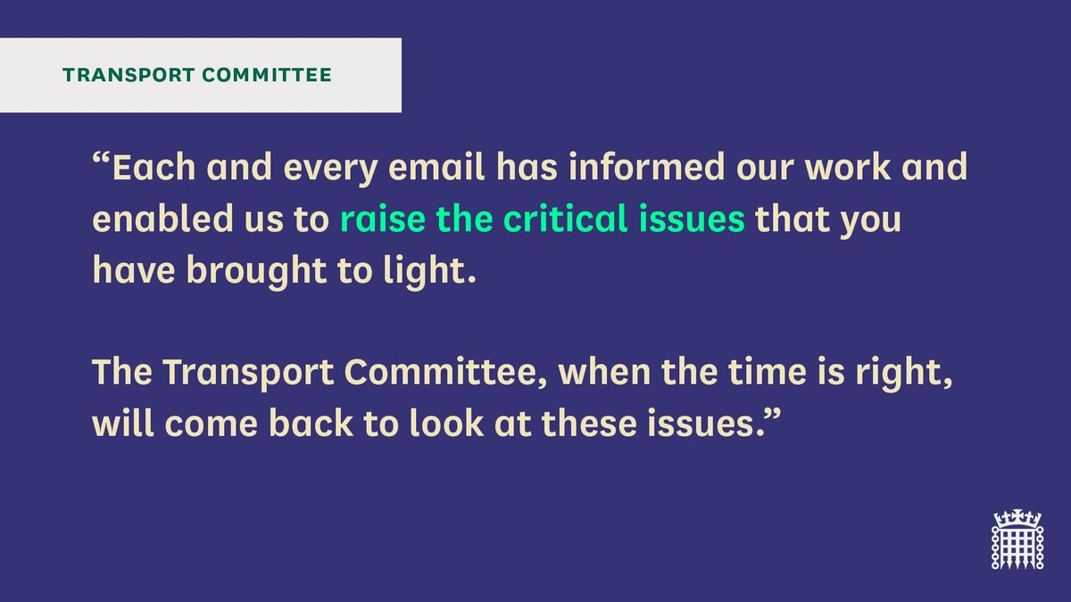 [3/3] We would like to thank everyone who has taken the time to e-mail or tweet us about our ongoing work on the implications of coronavirus on the aviation sector. You can take part and contribute your views here: committees.parliament.uk/work/221/coron…