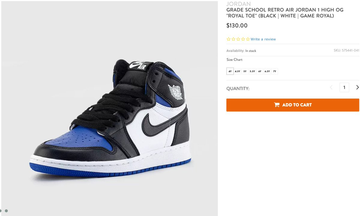 Sole Links On Twitter Ad Gs 4y 7y Available Air Jordan 1 Retro