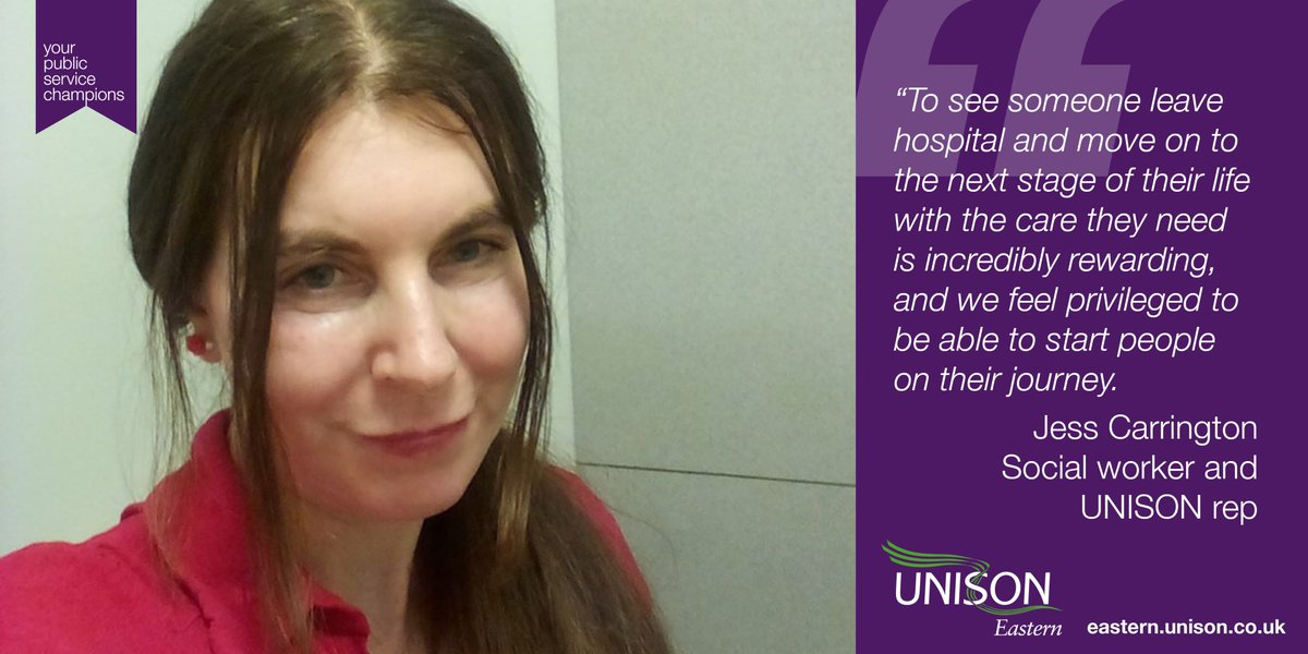 Another #ThankYou to a public service champion – social worker Jess from Norfolk. We chatted about how important hospital social workers are in the coronavirus battle eastern.unison.org.uk/news/2020/05/w…
