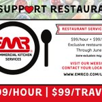 Image for the Tweet beginning: Reduced service rates for restaurants