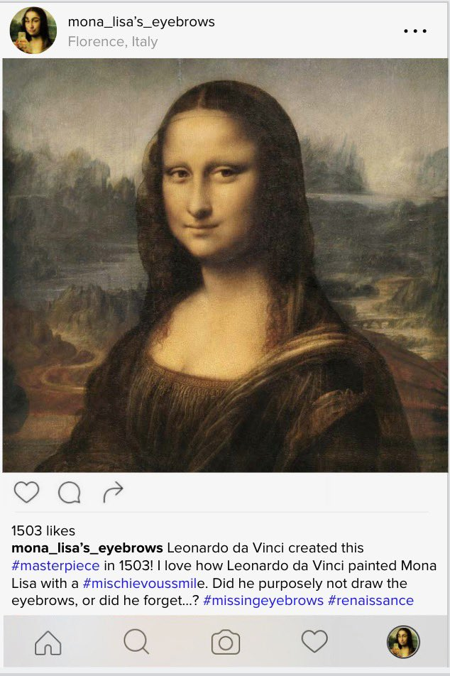 Students created Instagram posts for Renaissance people using Google Slides. I've done this for a few years now but this year is probably the most creative (and hilarious) 🤣