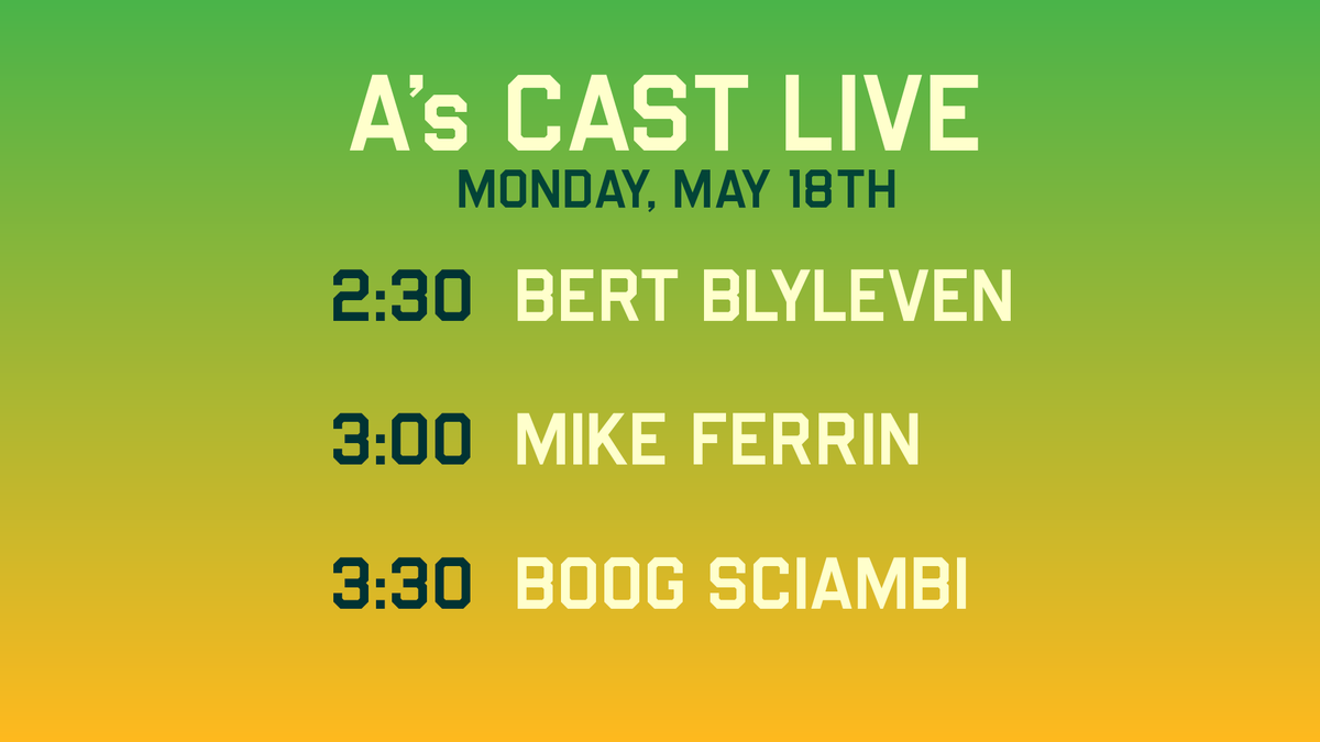 #AsCastLive will be streaming from 1-4pm w/ @townsendradio!  GUESTS: @PaulHembo 1:30 @BertBlyleven28 2:30 @Mike_Ferrin 3:00 @BoogSciambi 3:30  https://t.co/HGAxc7ZaWI 📻 https://t.co/awP0kOpXjV