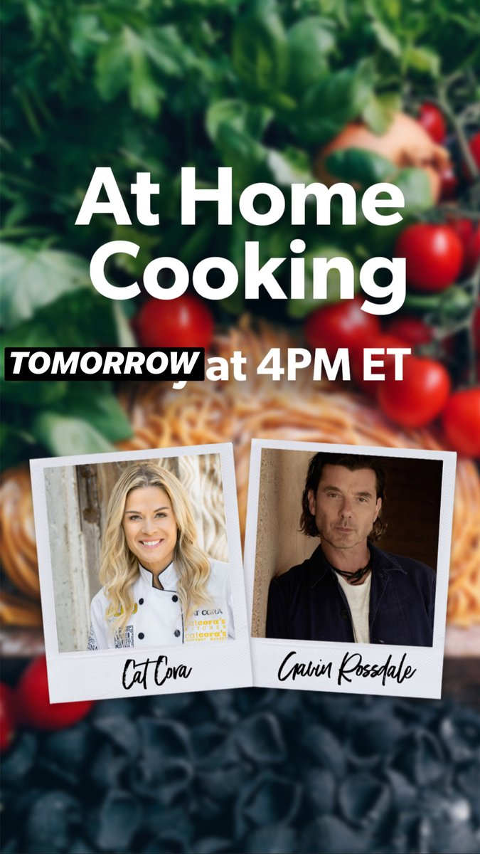 .@GavinRossdale will be on #amazonlive tomorrow at 4PM ET / 1PM PT with @catcora cooking Chile-Lime Flank Steak Tacos! #Stayhome #cooking    https://t.co/z6prIzpvUf https://t.co/fEnwdtLWU7