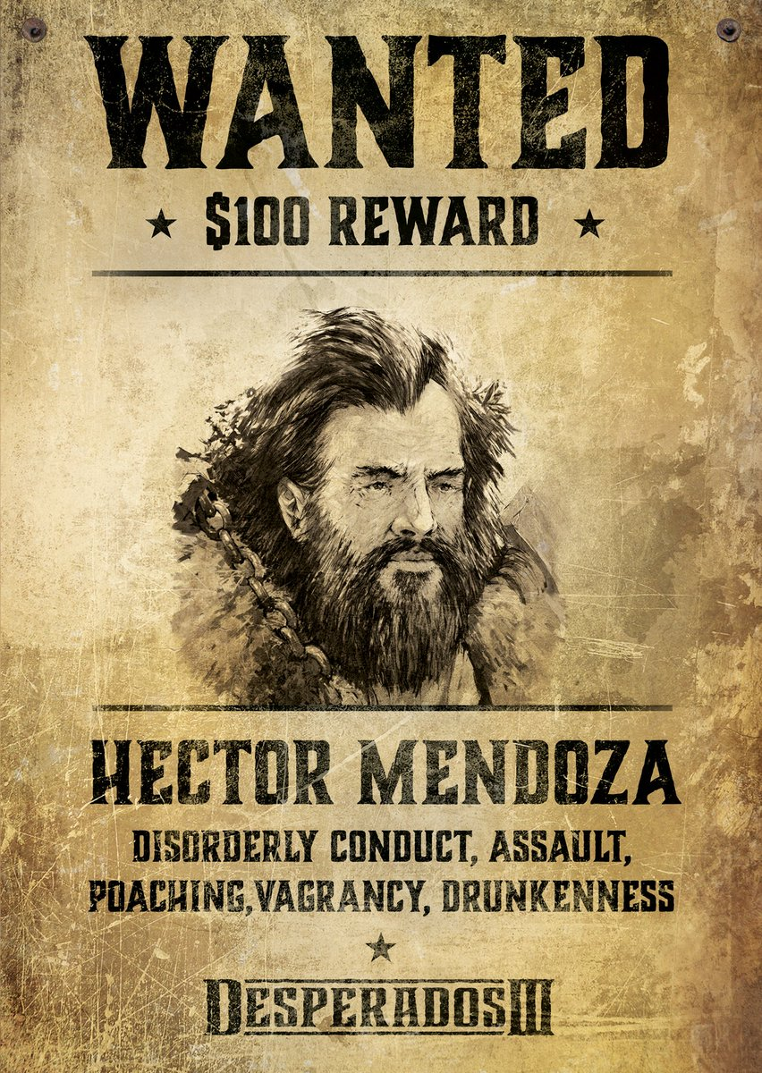 Thq Nordic On Twitter Have You Seen This Man Hector Mendoza Wanted For Disorderly Conduct Assault Poaching Vagrancy And Drunkenness If You See Him Contact Your Local Sheriff And Don T Try To