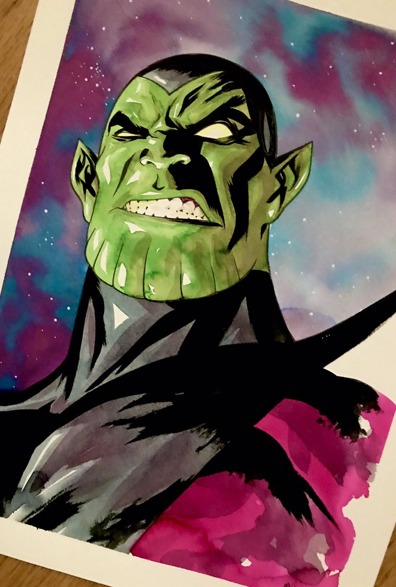 Super Skrull #superskrull #marvelcomics #mckone tdartgallery.com/ArtistGalleryR…