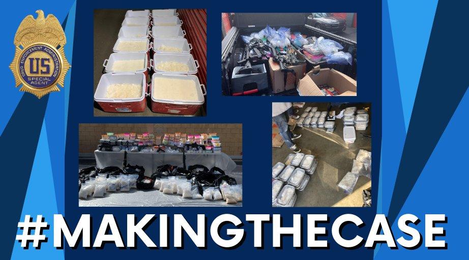 Mondays #MakingtheCase: 2,669 pounds of methamphetamine, two kilograms of cocaine, one kilogram of tar heroin seized in joint DEA investigation. dea.gov/press-releases…