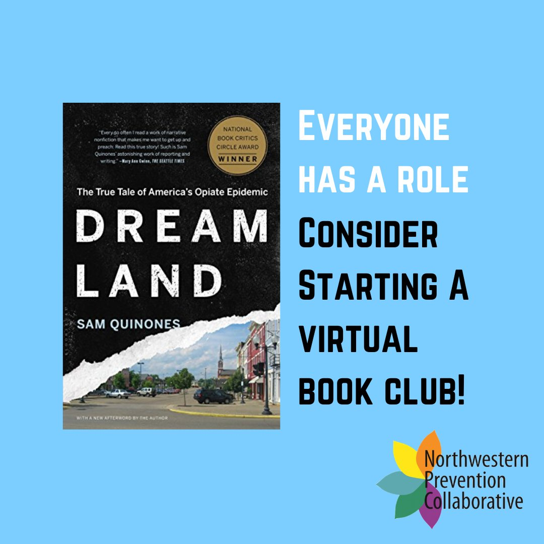 An easy way to spread awareness about the opioid epidemic from home? Start a virtual book club! We recommend 'Dreamland' by Sam Quinones. #Everyonehasarole https://t.co/94siIdWZdG